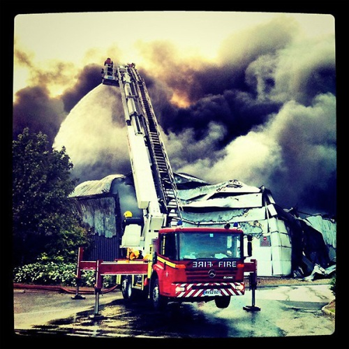 PIAS warehouse fire