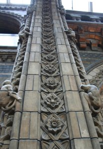 Ornate Pillar at the Natural History Museum